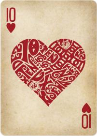 carte coeur reine