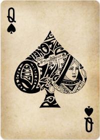 carte pique reine